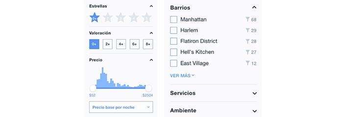 Usa los filtros de KAYAK para ajustar tu búsqueda.
