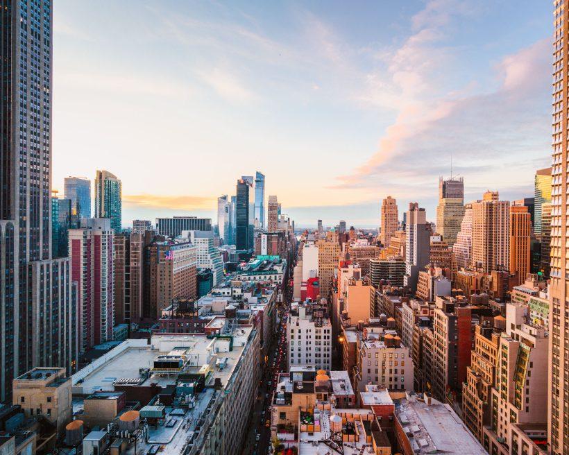 Vistas rascacielos ciudad